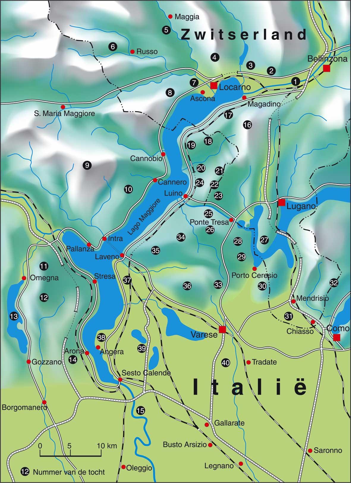 Fietsgids - Fietsen rond de Lago Maggiore (9789064553837) PIROLA